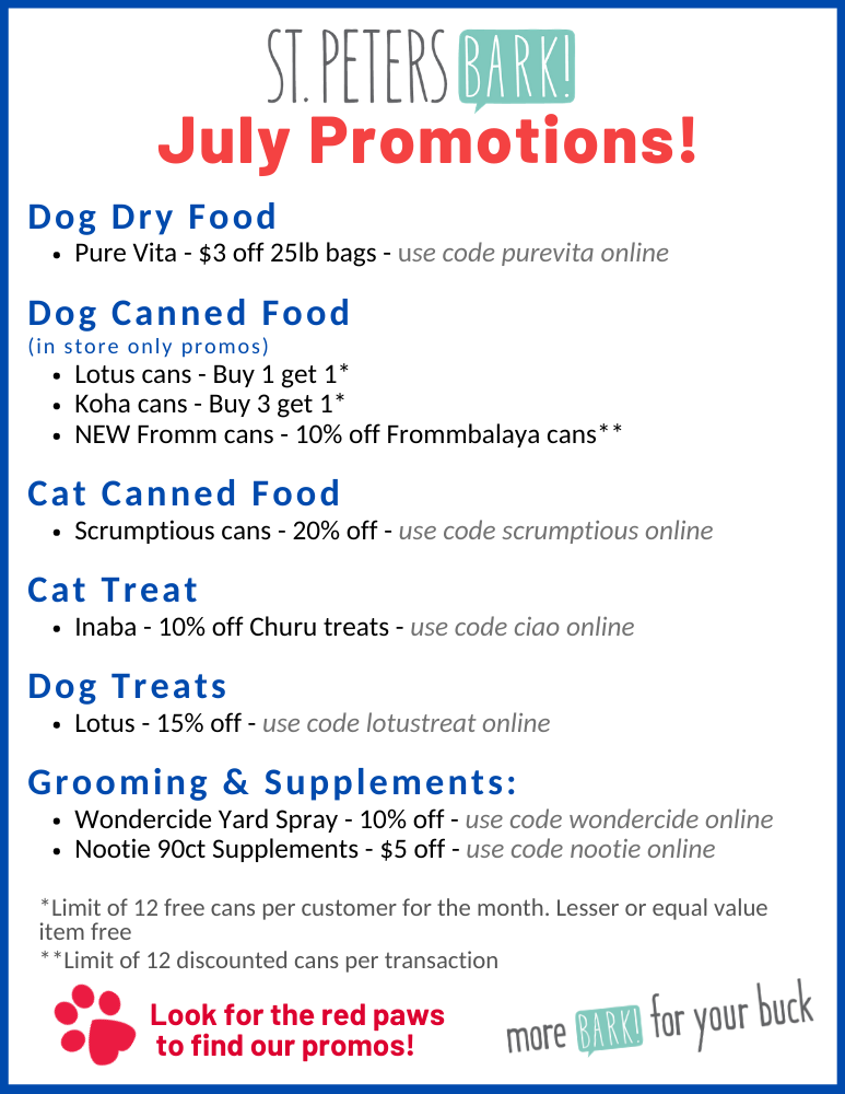st petersbark july promos
